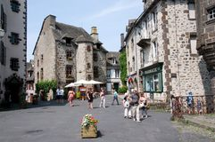 Salers, France. Old town Salers in Central Massif, Auvergne, France Royalty Free Stock Photo