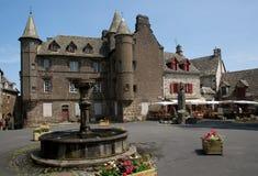 Salers, France. Old town Salers in Central Massif, Auvergne, France Stock Images