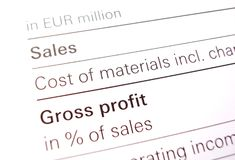 Sales. Marketing sheet paper counting Stock Photo
