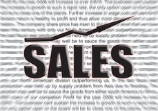 Sales. Background for a presentation Royalty Free Stock Photos