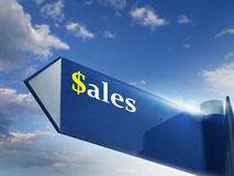 SALES. Road sing for business and marketing concepts Stock Photography