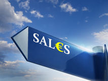 SALES. Road sing for business and marketing concepts Stock Photos