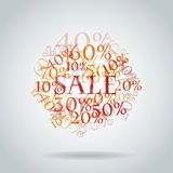 Sales. Vector pattern of discount. Sales royalty free illustration