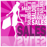 Sales 2 (violet) Royalty Free Stock Photo