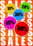 Sales. Sign with several discounts Royalty Free Stock Images