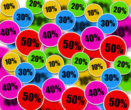 Sales. Colorful massive discounts during sales period Stock Images