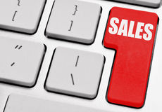 Sales. Button on computer keyboard Stock Photo