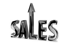 Sales 3D Image. Sales text depicting upturn, increase, success Royalty Free Stock Images
