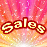 Sales abstract background. Abstract background with bright color and text of sales Stock Photo