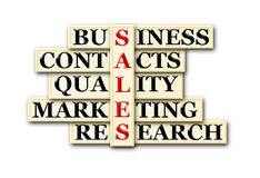 Sales. Acronym concept of sales and other releated words royalty free illustration