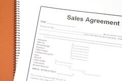 Sales agreement Royalty Free Stock Image