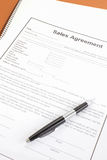 Sales agreement. Close - up Business document paper of Sales agreement Stock Photography