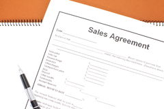 Sales Agreement Royalty Free Stock Photo