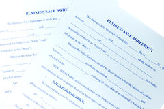 Sales Agreement Stock Photos