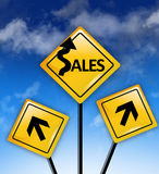 Sales ahead concept Royalty Free Stock Photography