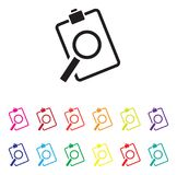 Sales analysis icon set. A sales analysis icon set Royalty Free Stock Photos