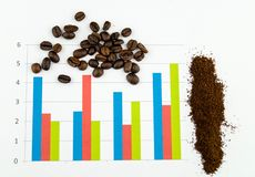 Infographic coffee beans royalty free stock photo