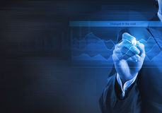 Sales analysis and report Stock Photo