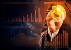 Sales analysis and report Stock Image