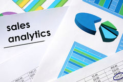 Sales analytics concept. Royalty Free Stock Photo