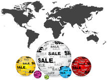 Sales around the world Stock Image