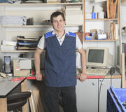 Sales assistant portrait in home appliance shop Royalty Free Stock Photography