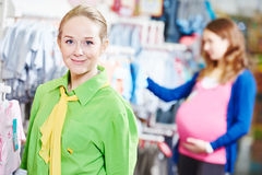 Sales assistant or seller in shop Stock Photos