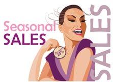 Sales background Stock Image