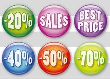Sales badges Stock Image