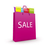 Sales bag. Bag with the goods at a discount Stock Images