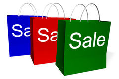 Sales Bags Stock Photography