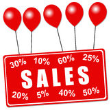 Sales balloons royalty free illustration