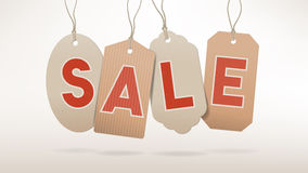 Sales banner with tags Stock Images