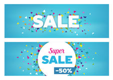 Sales Banners - Geometrical Shapes Design Stock Photos