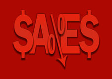 Sales bargain lower percent price goes down. Royalty Free Stock Photo