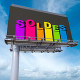 Sales billboard Stock Photo