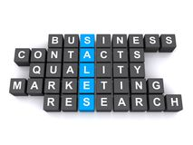 Sales and business. A sales and business concept image with the keywords contacts, quality, marketing and research royalty free stock photo
