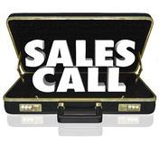 Sales Call Open Briefcase Selling Presentation Proposal Stock Image
