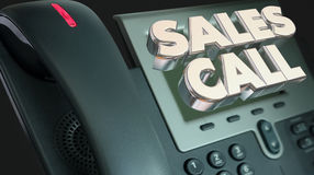 Sales Call Selling Solicit Phone Words Royalty Free Stock Image