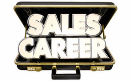 Sales Career Job Position Selling Business Briefcase. 3d Words Stock Images