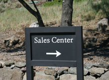 Sales Center sign Stock Images