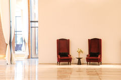 Sales centre. With  two chairs Royalty Free Stock Images