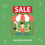 Sales cinema novelties Royalty Free Stock Image