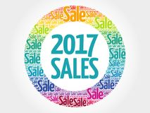 2017 SALES circle word cloud. Business concept Royalty Free Stock Image