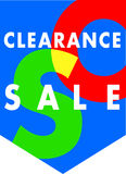 Sales clearance banner royalty free illustration