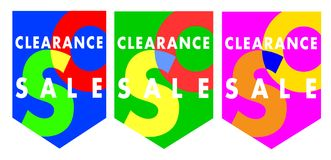 Sales clearance vector banners royalty free stock image