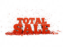 Sales collapse Royalty Free Stock Images