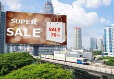 Sales concept, Outdoor billboards, super sale