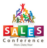 Sales conference logo. Colorfull logo design for sales conference Royalty Free Stock Photos