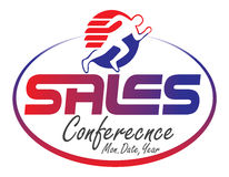 Sales conference logo. Colorfull logo design for sales conference Stock Images